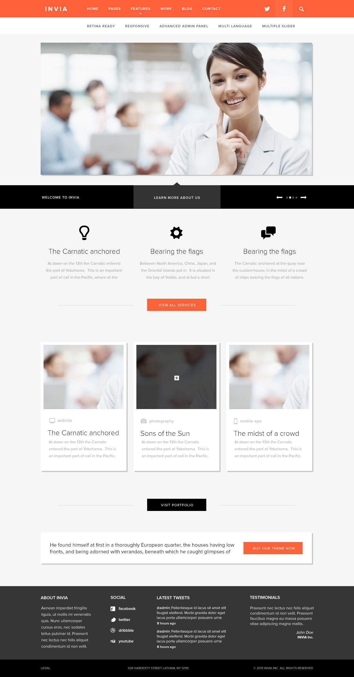 INVIA Responsive Corporate WP Theme