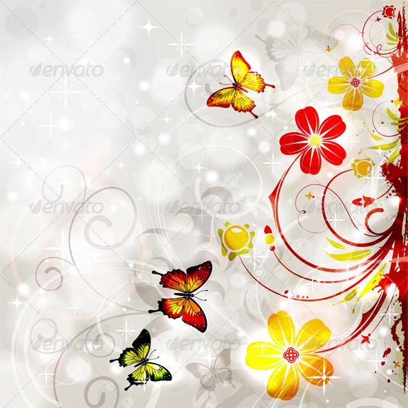 GraphicRiver Floral Frame 4283862
