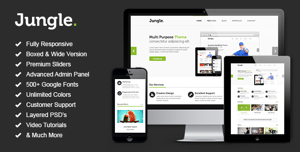ThemeForest Jungle Responsive Multi-Purpose WordPress Theme 4236650