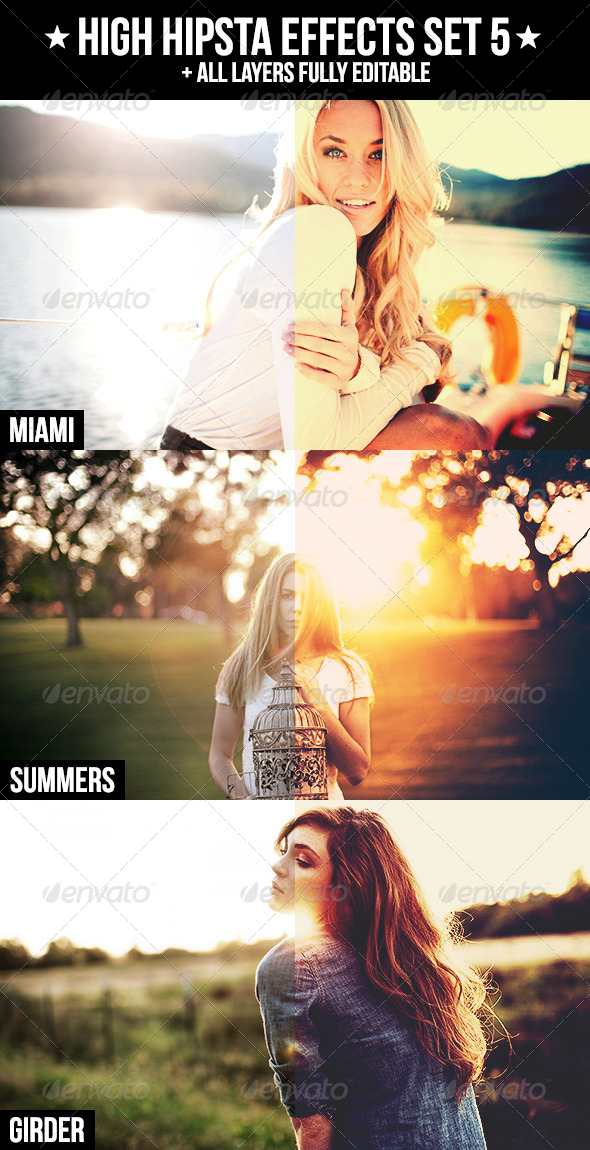 GraphicRiver High Hipsta Effects Set 5 4284556