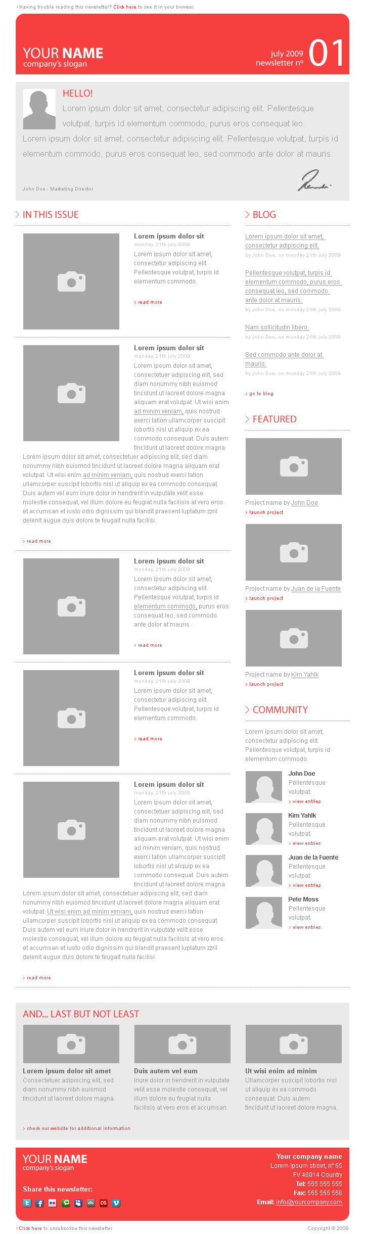 Corporate Newsletter Template V1