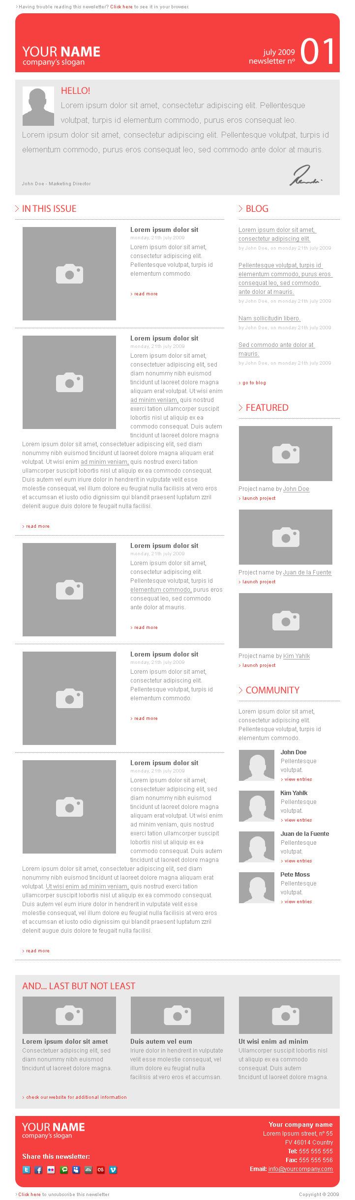 Corporate Newsletter Template V1