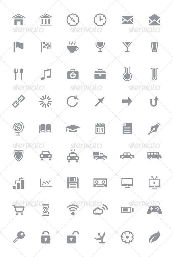 GraphicRiver Icons and Pictograms Set 4284902
