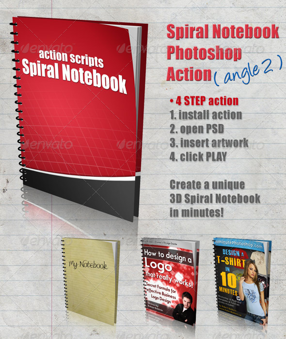 GraphicRiver 3D Spiral Notebook Action Script Angle 2 4284910