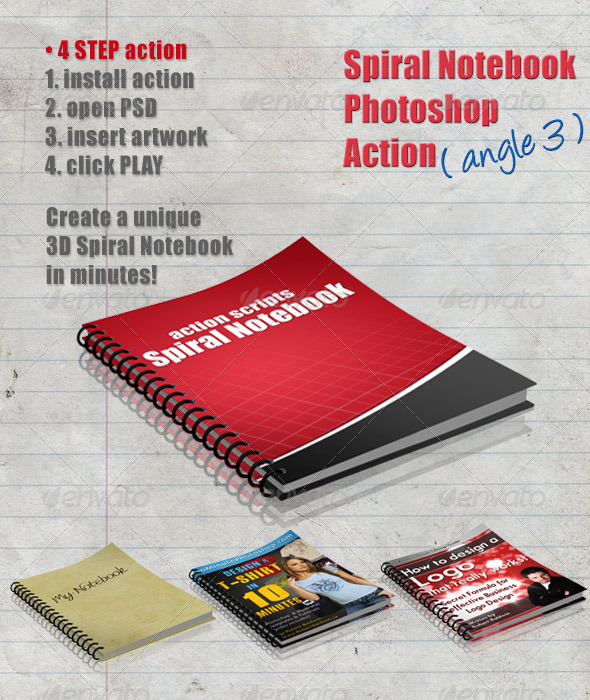 GraphicRiver 3D Spiral Notebook Action Script Angle 3 4284916
