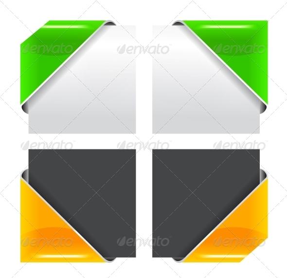 GraphicRiver Vector Colored Corner Ribbon Set 4285111