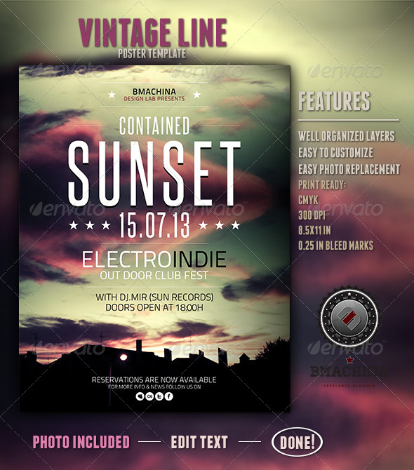 GraphicRiver Indie Poster Template Contained Sunset 4285224