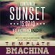 Indie Poster Template - Contained Sunset - GraphicRiver Item for Sale