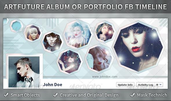 GraphicRiver Artfuture Album or Portfolio FB Timeline 4285447