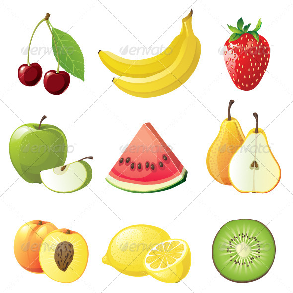 GraphicRiver Fruits Icons 4118506