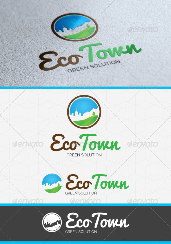 GraphicRiver Eco Town logo Template 4285754