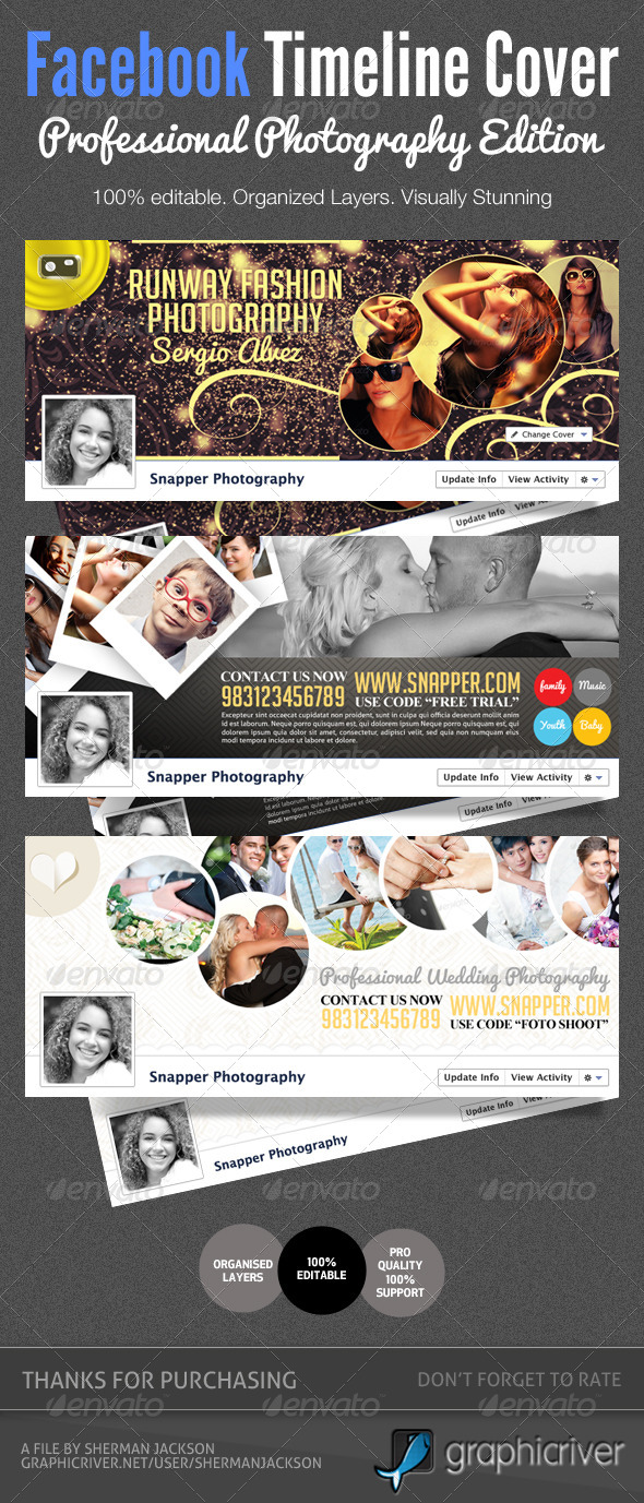 GraphicRiver Pro Photography Facebook Timeline Covers 4286153