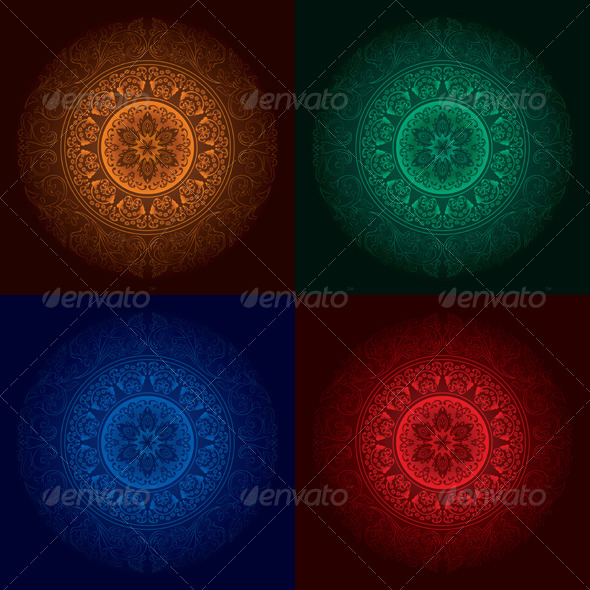 GraphicRiver Vector Vintage Abstract Backgrounds 4286478