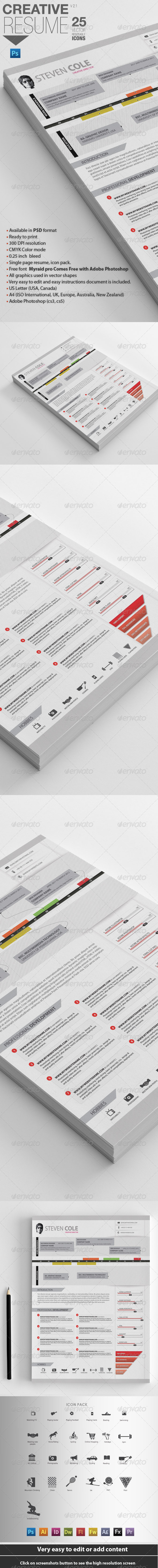 GraphicRiver Professional Resume For Designers 4112799