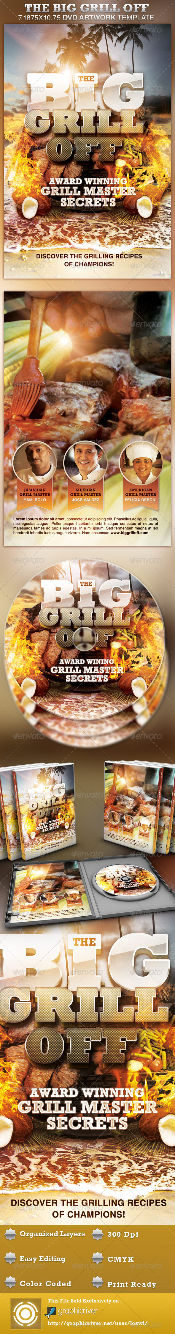 GraphicRiver The Big Grill Off DVD Artwork Template 4286581