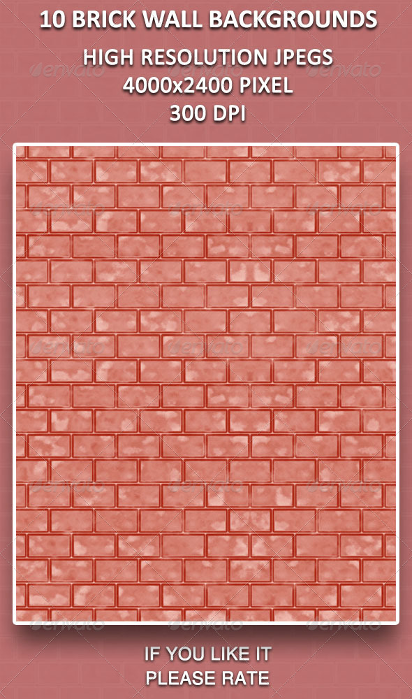GraphicRiver 10 Brick Wall Backgrounds 4286744