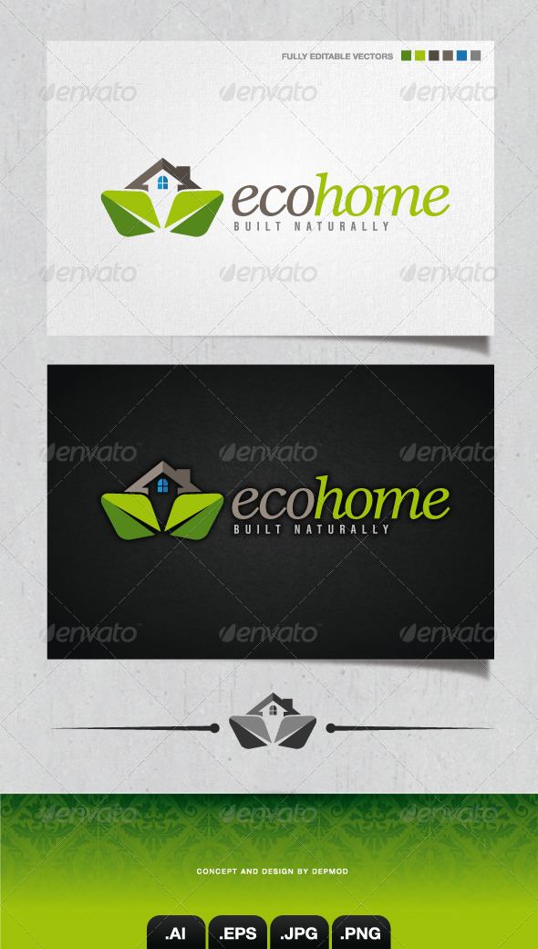GraphicRiver Eco Home Logo 4286749