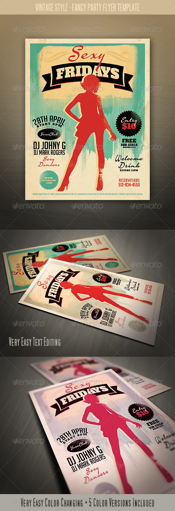 GraphicRiver Vintage Style Fancy Night Flyer 4113152
