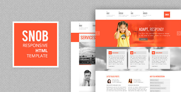 ThemeForest Snob Responsive Template 4251467