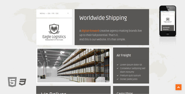 Eagle Logistics - Responsive Retina-Ready HTML5