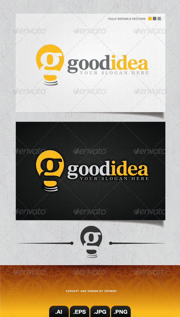 Good Idea Logo - Letters Logo Templates