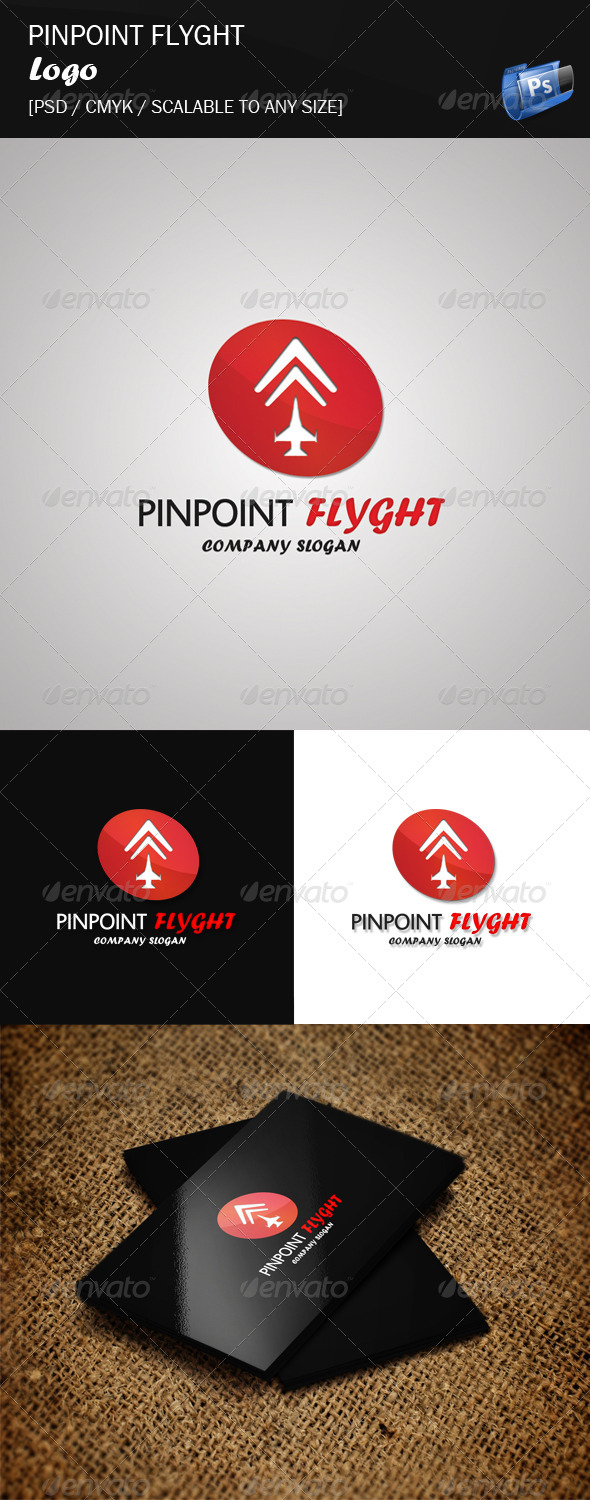GraphicRiver Pinpoint Flyght Logo Template 4174578