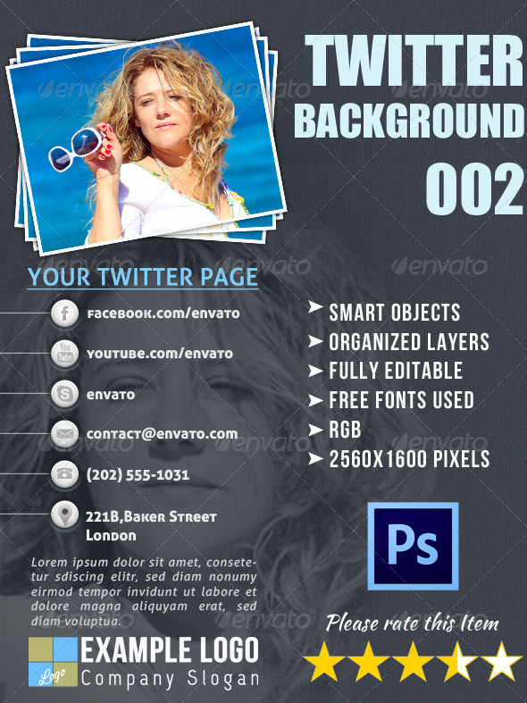 GraphicRiver Twitter Background 002 4158042