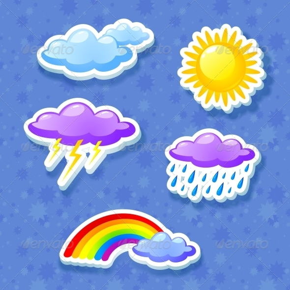 GraphicRiver Colorful Weather Icon Set 4287708