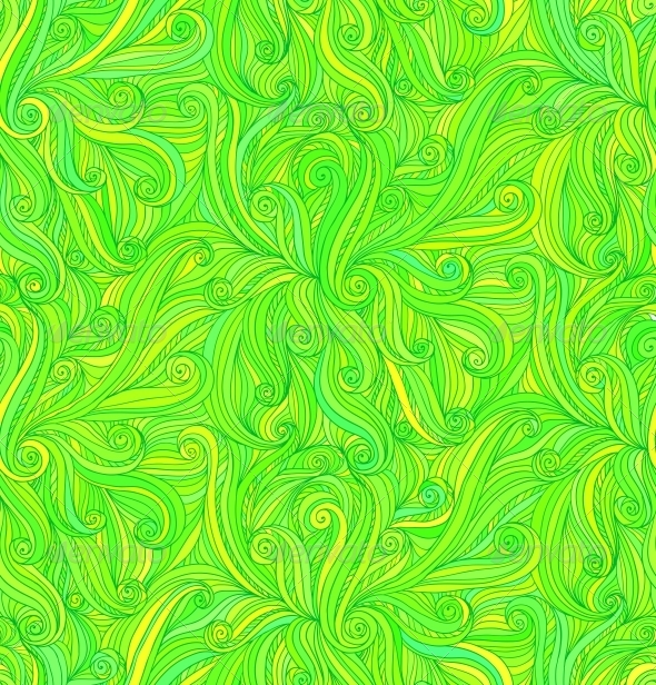 GraphicRiver Vector Abstract Doodle Curves Seamless Pattern 4287740