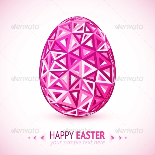 Abstract Geometry Triangles Vector Easter Egg