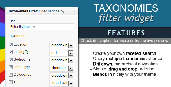 CodeCanyon Taxonomies Filter Widget 4282257