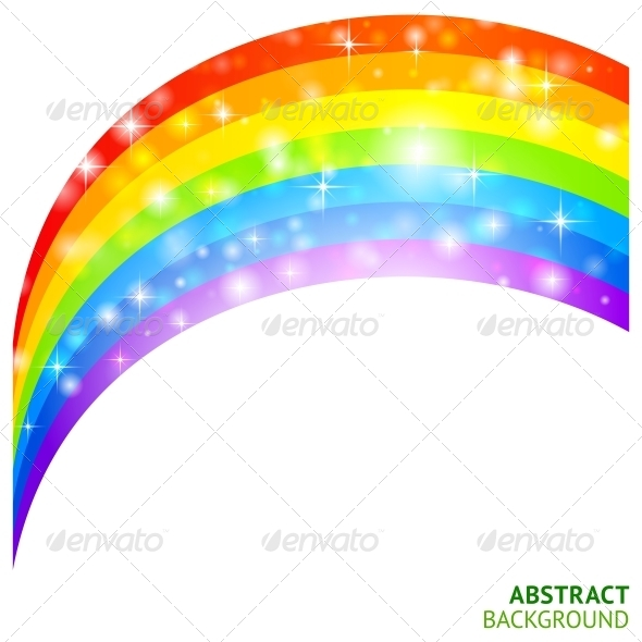 GraphicRiver Vector Background with Rainbow and Lucky Clover 4287923