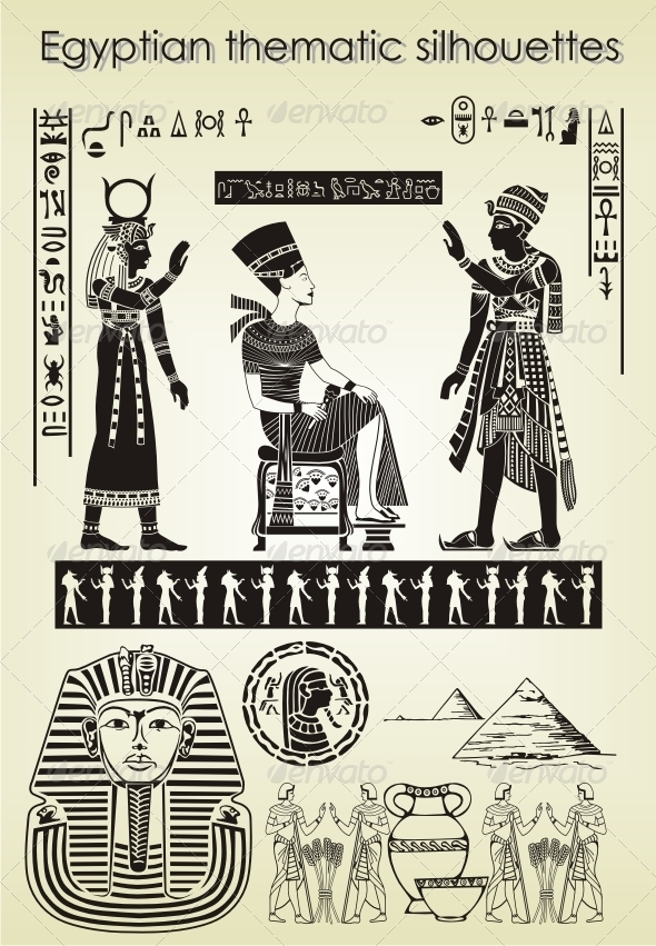GraphicRiver Egyptian thematic silhouettes 4189701