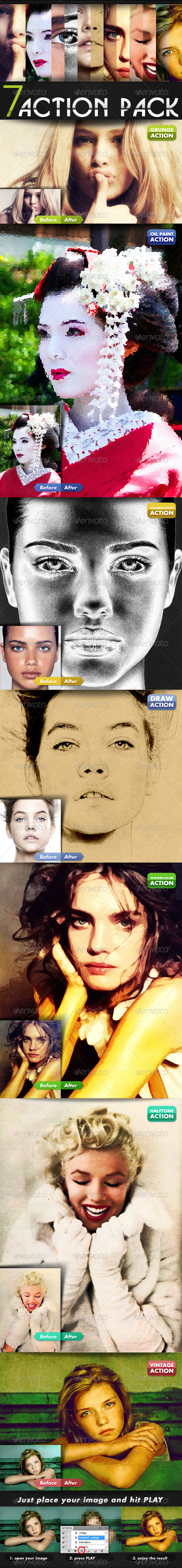 GraphicRiver Photoshop Action Pack 4288227