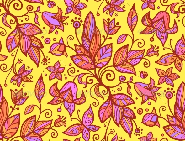 GraphicRiver Abstract Ornate Shining Flower Seamless Pattern 4288384