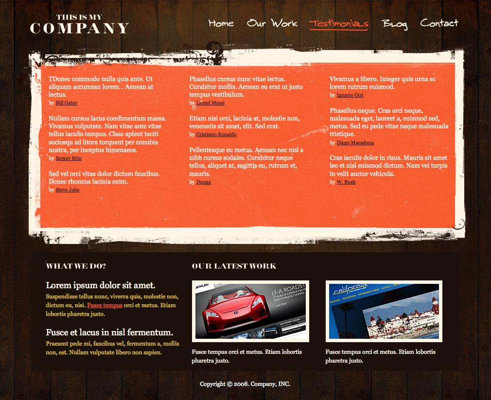 Grunge Design Company - Testimonials...