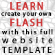 Learn Flash Customizable Website Template - ActiveDen Item for Sale