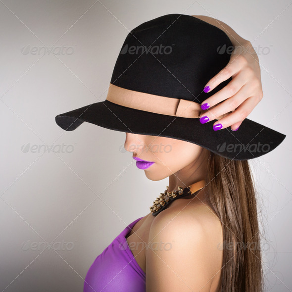 Purple summer style - Stock Photo - Images