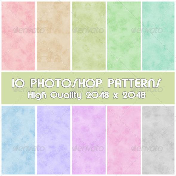 GraphicRiver 10 Photoshop Paper Patterns Set 08 4289944