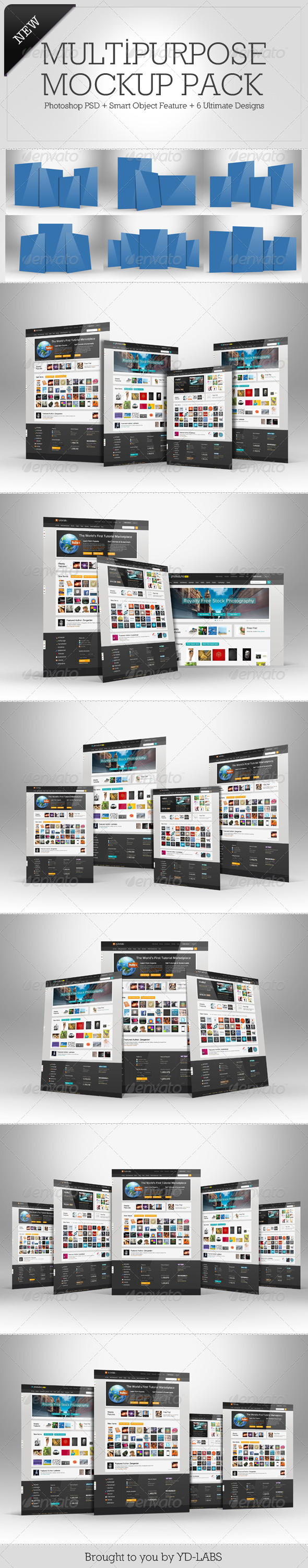 Multipurpose Mockup Pack 3 - Miscellaneous Displays