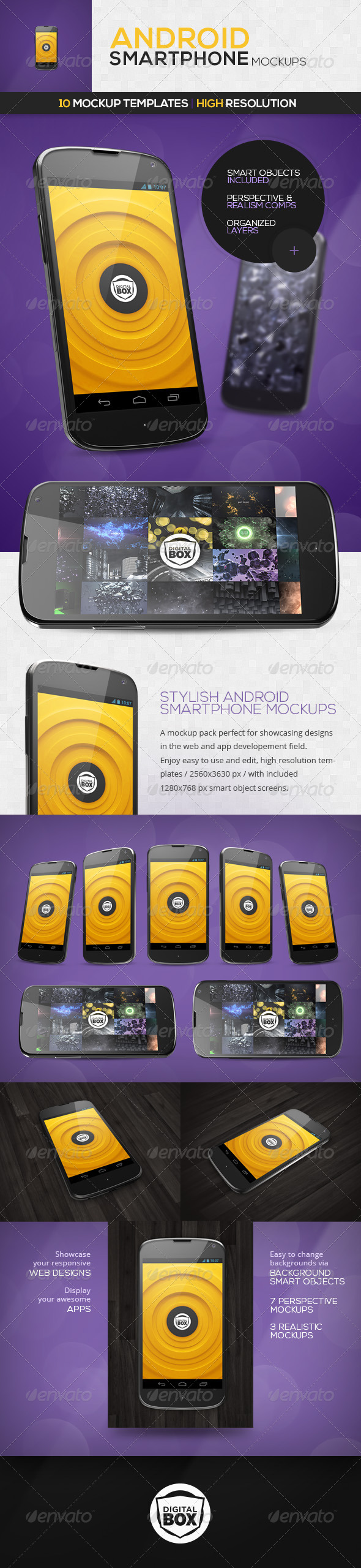 GraphicRiver Android Smartphone Mockups 4289971