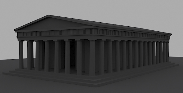 3DOcean Ancient Greek Temple 4271494