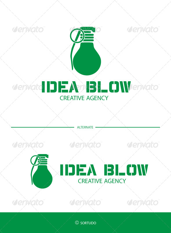 Idea Blow Logo Template