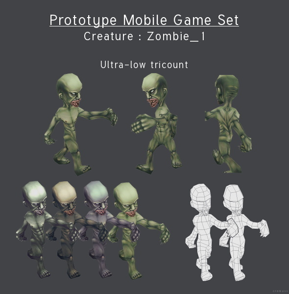 3DOcean Prototype Mobile Game Set Creature Zombie 1 4291658