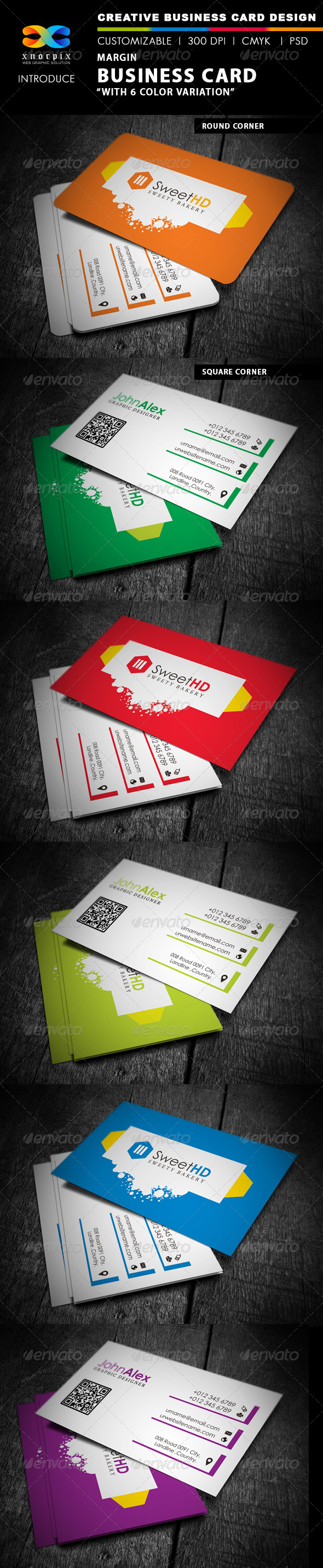 GraphicRiver Margin Business Card 4291665