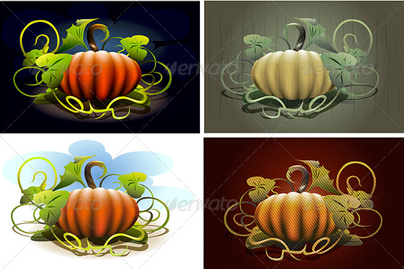 GraphicRiver Halloween Pumpkin Set 4291667