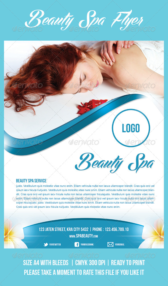 GraphicRiver Beauty Spa Flyer 4022344