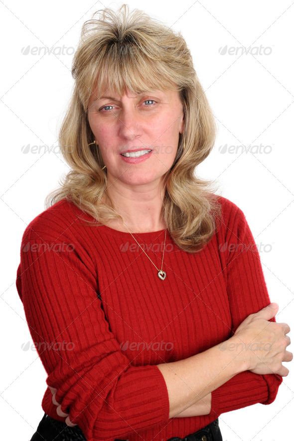 Concerned Blond Woman - Stock Photo - Images