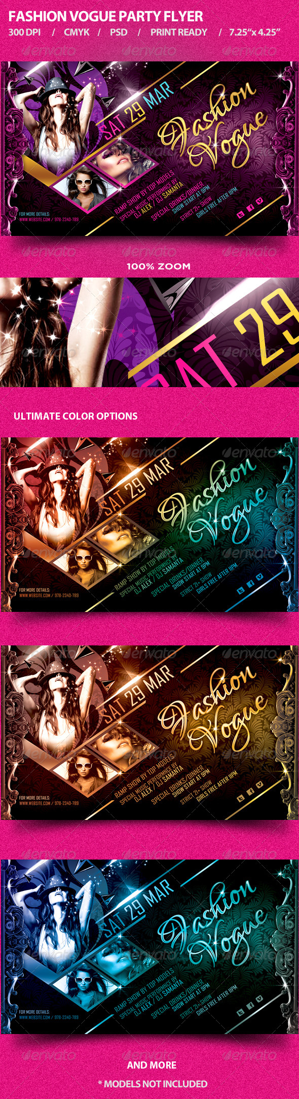 Fashion Vogue Party Flyer - Clubs & Parties Events