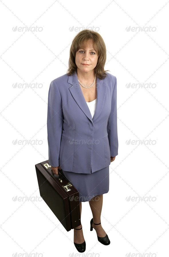 Confident Businesswoman Complete - Stock Photo - Images